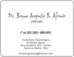 DR. BRUNO AUGUSTO BORGES AFONSO